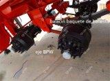 Transporte de Cbm da amônia 33 e de líquidos de Armazenamento De Produto químico Semitrailer do petroleiro do aço