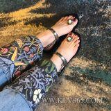 Pattini piani del sandalo di estate delle signore delle donne di alta qualità
