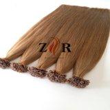 Stick clou humain européen à embout plat Remy Hair Extensions