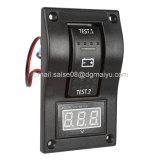 Prueba de la batería voltímetro interruptor basculante Panel Dpdt/on-off-on para barco marino RV ATV 5-30V DC