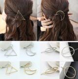 Nuovi capelli della luna del cerchio del triangolo del metallo delle ragazze delle donne di modo