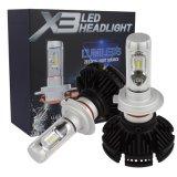 Farol de LED de venda quente 2017 X3 8000lm H4/H1/9005/9006 para todos os carros dos faróis LED