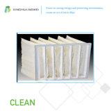 유리제 Microfiber에 의하여 공기 놓이는 필터 내열성 포켓