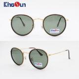 Plástico Borda Óculos de sol da senhora com forma redonda