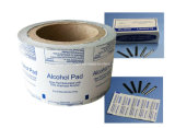 ISO/QS Alcohol Prep Embalaje Pad Lámina, Alu/PE/papel, papel de aluminio (papel).
