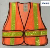 Veste da segurança do engranzamento com o 4PC de 2 tiras reflexivas de *16cm