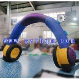 Publicité de plein air gonflables de Noël arch/Style hermétique de la race Arch Inflatable