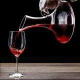 無鉛水晶ワインのデカンターのハンドルのCarafeのデカンターが付いているヨーロッパのガラスワインのデカンター