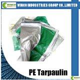 Bâche de protection de tissu de PE avec le coin renforcé, poly bâche de protection tissée avec Lamianted