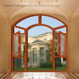 Окно алюминиевого Casement профиля стеклянное с сетью нержавеющей стали (FT-W85)