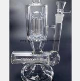 Canon en verre de filtre de brindille d'arbre de pipe de fumée de 14.9 pouces