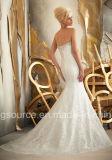 제국 청소 트레인 Embroidary 공주 신부 드레스 Tulle 결혼 예복