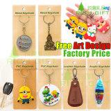 Metallmünzen-Schlüsselringe, Laufkatze-Schlüsselringe, Supermarkt-kaufende Schlüsselketten für Förderung-Geschenk