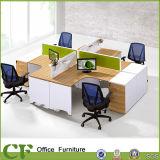 Estação de trabalho de madeira modular do centro de chamadas de Frniture 4 Seater do escritório