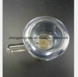 Azurblaues Glaswasser-Rohr 14.5mm, 18.8mm männlicher Filterglocke-Tabak