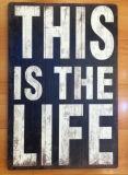 Панели творческого нутряного знака деревянной доски деревянные с словами