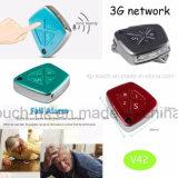 3G/l'alarme d'automne WiFi GPS tracker pour adulte/enfant/personne avec la caméra V42
