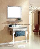 Module de salle de bains noir d'acier inoxydable de panneau