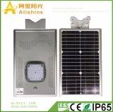 2018 Nuevo diseño de la serie 3G 12W en una sola luz de calle solar integrada de 160 lm/W 3030 chips LED