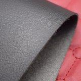 Cuero artificial grabado grano grande de la PU del lichí para el zapato de los deportes