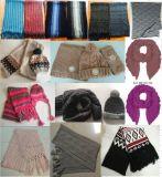 De Reeks van Neckwarmer van de Sjaals van de Sjaal van de Lijn van de Jacquard van Dame Man Kids Acrylic Knitted van de manier de Winter (hoed)
