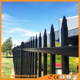 Revestimiento de polvo tubular lanza valla de jardín superior