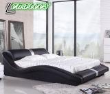 Modernes ledernes Schlafzimmer-Bett der Möbel-A070