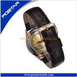 日本贅沢な動きの自動簡単なダイヤルの人の腕時計のスチール・ケースの背部
