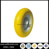 4.00-8 solvently Flat Free PU Foam Wheel for Wagon Carts