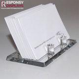 Support acrylique d'étalage de carte de visite professionnelle de visite de partie supérieure du comptoir d'utilisation commerciale