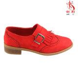 Faltenbildung-Ebene schnitzen Muster-Oxford-Schuhe für Form-Dame (OX51)