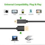 Mini tipo a del USB 2.0 del cable del USB al mini cable de B para el héroe 3+, héroe HD, teléfonos celulares, de Gopro jugadores MP3