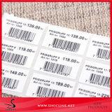 A etiqueta com código de barras