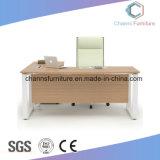 L 모양 금속 프레임 나무로 되는 간부 컴퓨터 테이블 (CAS-MD1805)