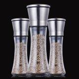 Stahldeckel-Kappe mit Glasflaschen-Pfeffer-Schleifer