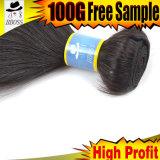 100 pour cent Clip-dans les allumeurs de tissage de cheveu brésilien de cheveu