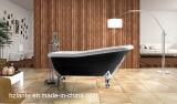 Bañera clásica de acrílico del precio de fábrica con el pie de la pata de la aleación de aluminio (LT-10T)
