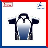 Цена по прейскуранту завода-изготовителя Healong Китая резвится рубашки пола людей сублимации шестерни одеяния для сбывания