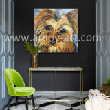 Silencia perro hechos a mano pinturas al óleo para la Decoración de pared