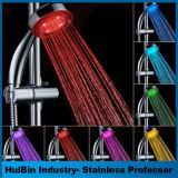 Pista de ducha del color LED del cuarto de baño 7 con el cambio automático
