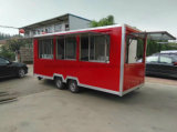 Camions mobiles professionnels de chariot de nourriture de Tranda et de nourriture de kiosque