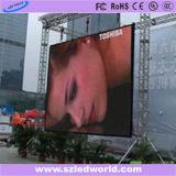 Im Freien/Innenfarbenreiche druckgießenled-Anschlagtafel-Bildschirm-videoMietwand mit 640X640mm dem druckgießenschrank für Stadiums-Leistung (P5, P8, P10)