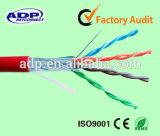 Cable de LAN de cobre descubierto sólido del ftp del conductor Cat5e