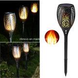 Новые 96 светодиодный фонарик в саду солнечной энергии света с мерцание пламени (RS127)