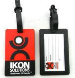 PVC maleável personalizados etiqueta de bagagem de Silicone