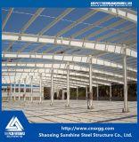 Almacén modificado para requisitos particulares casa prefabricada de la estructura de acero del acero de la sol