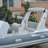 Liya 520の肋骨チークの床が付いている膨脹可能なPVCボート