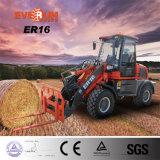 De Tractor van het Merk van Everun Er16 met de Vorken van de Pallet