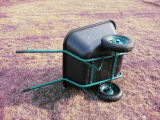 180L重義務Durable Plastic Tray Wheelbarrow
