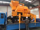 Mezcladora de tambor de la calidad de China con el sistema de bombeo en venta